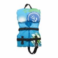 Oceans 7 Infant Life Jacket Type II PFD Flotation Swim Trainer Vest, Blue/White - 1 Unit