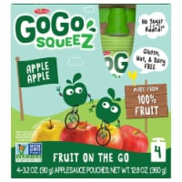 GoGo SqueeZ Apple Apple Applesauce Pouches