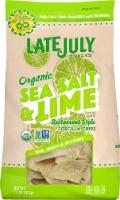 Late July Organic Sea Salt & Lime Restaurant Style Tortilla Chips - 11 oz