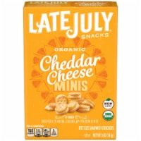 Late July Organic Mini Cheddar Cheese Sandwich Crackers