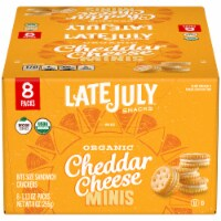 Late July Organic Cheddar Cheese Mini Sandwich Crackers Packs