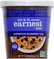 Earnest Eats Hot And Fit Cereal Cup Superfood Blueberry Chia