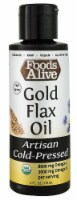Foods Alive  Organic Artisan Cold Pressed Oil   Gold Flax