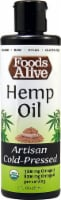 Foods Alive  Organic Hemp Oil Artisan Cold-Pressed