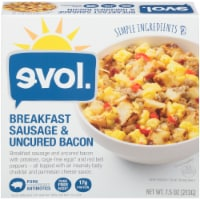 evol. Breakfast Sausage and Uncured Bacon