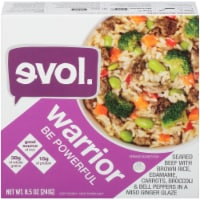 Evol Warrior Be Powerful Beef with Rice and Vegetables Bowl