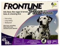 Frontline Plus for Dogs 45-88 lb Flea Tick & Chewing Lice Treatment