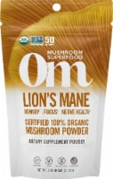 OM Organic Lions Mane Mushroom Nutrition Supplement Powder
