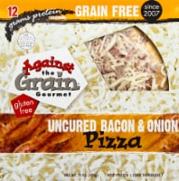 Against the Grain Gourmet Uncured Bacon & Onion Gluten Free Pizza