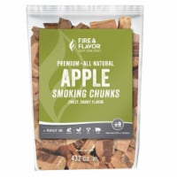 Fire & Flavor 1001639 4 lbs Wood Apple Chunks, Green - 1