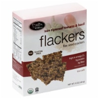 Doctor in the Kitchen Flackers Tomato & Basil Flax Seed Crackers - 5 oz