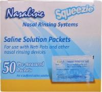 Nasaline  Squeezie Saline Solution Packets - 50 ct