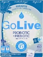GoLive  Probiotic and Prebiotic Drink Mix Blend Paradise   Coconut Kiwi Passion Fruit - 10 ct / 0.34 oz