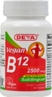 Deva Vegan Sublingual B12 Tablets 2500mcg
