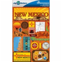 Reminisce Jet Setters State Dimensional Stickers 4.5 X7.5 -New Mexico - 1