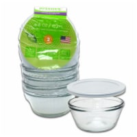 Kitchen Classics 6 oz. Clear Food Storage Container Set 4 pk - Case Of: 4; - Case of: 4