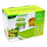 Libra 245172 Tempered Glass Food Storage Set, 12 Piece - 12