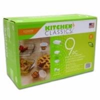 Libra Wholesale Kitchen Classics Ovenware Collection Bake Set, Clear