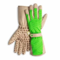 Dig It High 5 - Women's Gardening Gloves with Fingertip Protection -  Large -  Green Tan - Large