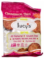 Lucy's  Gluten Free Cookies   Cinnamon Thin