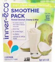 Inner-Eco Fresh Young Green Coconut Smoothie Pack - 4 ct / 2 oz