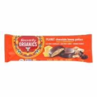 Heavenly Organics Candy Chocolate Honey Patties, Peanuts  - Case of 16 - 1.16 OZ - Case of 16 - 1.16 OZ each