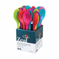 Zeal J159DISP Silicone Draining Spoon  Assorted Colors - pack of 24 - 24