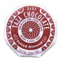 Taza Chocolate Organic Salted Almond Dark Chocolate Mexicano Discs Candy - 2.7 oz