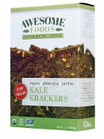Awesome Foods  Organic Raw Kale Krackers Gluten Free