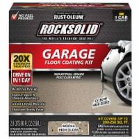 Rust-Oleum 60009 RockSolid Polycuramine 1 Car Garage Floor Coating Mocha Kit - 1 kit each