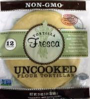 Tortilla Fresca Non-GMO Uncooked Flour Tortillas - 12 ct / 1.75 oz