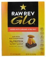 RAW REV  Glo™ Bar with Raw Superfoods   Mixed Nuts Caramel & Sea Salt