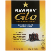 RAW REV  Glo™ Double Chocolate Brownie Batter with Raw Superfoods Bars