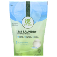 Grab Green Fragrance Free 3-In-1 Laundry Detergent Pods