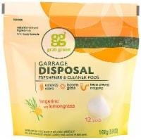 GrabGreen Tangerine with Lemongrass Garbage Disposal Freshener & Cleaner 12 Count