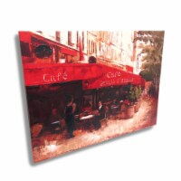 French Sidewalk Cafe Canvas Wall Art Print Painting - Medium