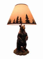 Standing Grizzly Bear Table Lamp W/ Silhouette Shade - One Size