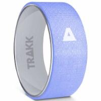 TRAKK Back Pain Relief Stretch Massage Foam Roller Yoga Wheel, 12 Inches, Silver - 1 Piece