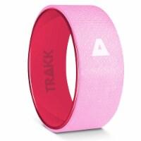 TRAKK Back Pain Relief Stretch Massage Foam Roller Yoga Wheel, 10 Inches, Pink - 1 Piece