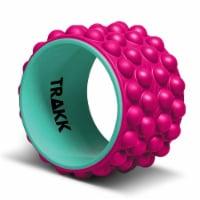 TRAKK ACCU-WHEEL Foam Roller Recovery Wheel for Full Body Pain Relief, Pink - 1 Piece