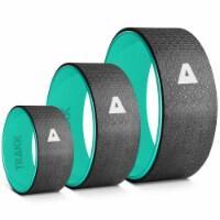 TRAKK 3in1 Back Stretch Massage Foam Roller Fitness Yoga Wheel, Set of 3, Black - 1 Piece
