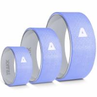 TRAKK 3 In 1 Back Stretch Massage Foam Roller Fitness Yoga Wheel, Set of 3, Blue - 1 Piece