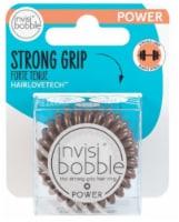 Invisibobble Power Hair Ring - Pretzel Brown - 2 ct