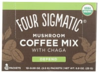 Four Sigmatic Mushroom Coffee Mix with Cordyceps & Chaga Packets 10 Count