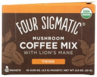 Four Sigmatic Mushroom Coffee Mix with Lion's Mane & Chaga Packets 10 Count