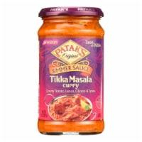 Pataks Simmer Sauce - Tikka Masala Curry - Medium - 15 oz - case of 6 - 15 OZ