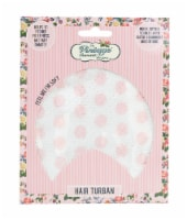 The Vintage Cosmetic Company Pink Polka Dot Hair Turban