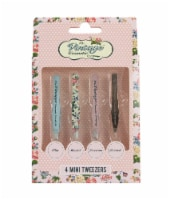 The Vintage Cosmetic Company Mini Tweezer Set 4 Piece