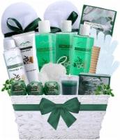 Spearmint Eucalyptus XL Bath & Body Spa Gift Basket. Moisturizing, Relaxing & Pampering Bath - Extra large spa basket