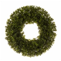 Glitzhome Spring and Summer Artificial Greenery Boxwood Wreath - 18 x 3.5 in